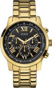 Gues horloge heren goud zwart W0379G4