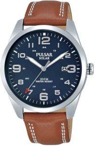 Pulsar horloge heren leren band PX3189X1