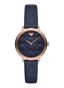 Armani horloge dames blauw AR11231
