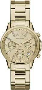 Armani horloge dames goud AX4327