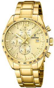 Festina horloge heren goud F20266-1