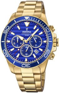Festina horloge heren goud F20364