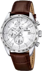 Festina horloge heren leer F16760-1