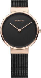 Bering horloge dames zwart saffierglas 14531-166