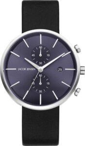 Jacob Jensen horloge heren zwart chronograaf 621