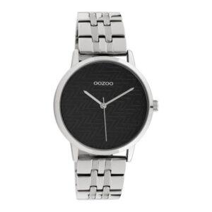 Oozoo horloge zilver zwart C10556