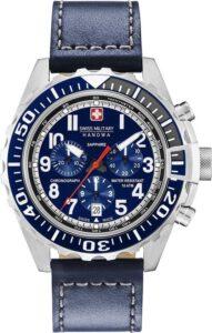 Swiss Military Hanowa horloge heren blauw saffierglas 06-4304.04.003