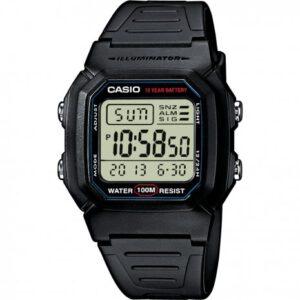 Casio zwart waterdicht 10 bar W-800H-1AVES