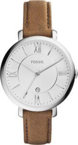 Fossil horloge dames leren band