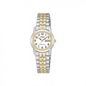 Lorus horloge dames goud zilver
