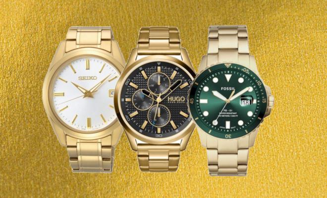 Horloge heren goud