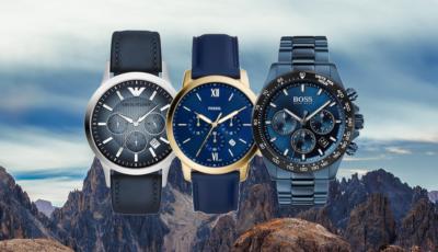 Horloge heren blauw