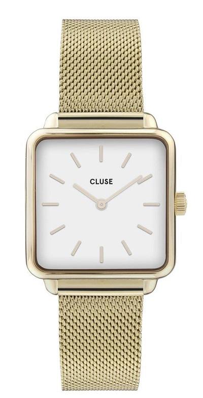 Cluse horloge dames goud vierkant