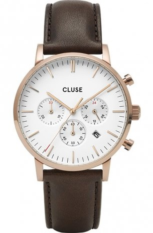 Cluse horloge heren leren band