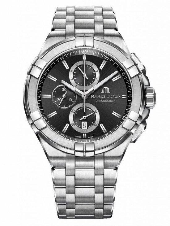 Maurice Lacroix zilver chronograaf